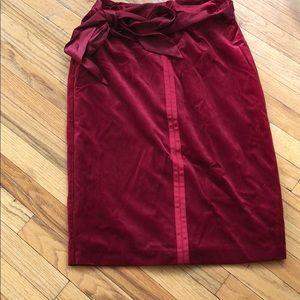 New York & Company Skirts - Velvet skirt in cranberry